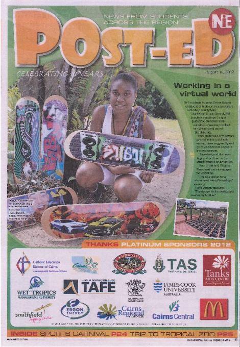 WTL Skoolaborate Skateboards - gets great press in FNQ
